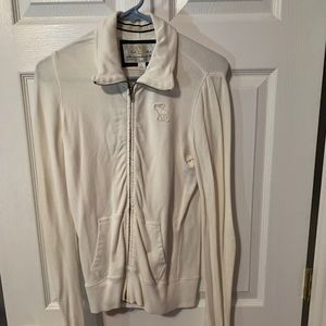 White Zip up Abercrombie & Fitch Jacket large